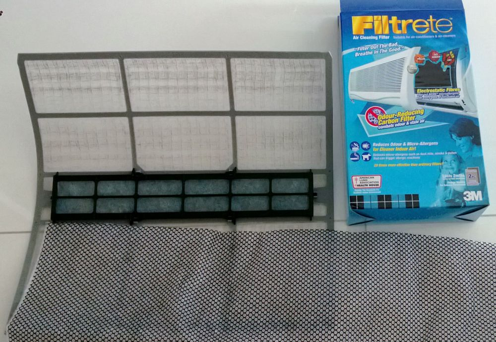 I bought the blue box Filtrete at a DIY shop for less than $30.