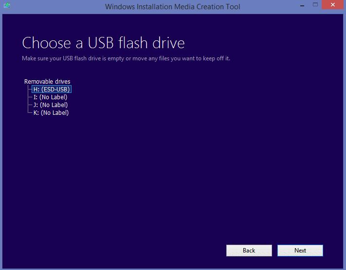 Make sure to select the correct drive!