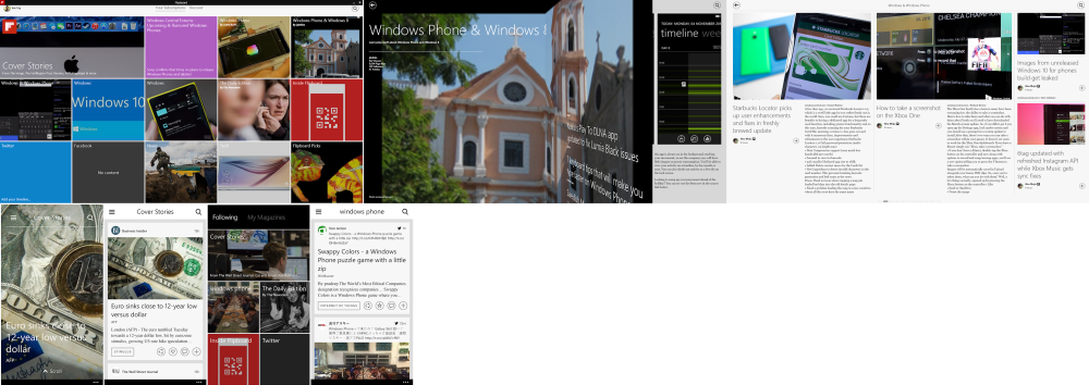 FlipBoard for Windows is fully functional, powerful & a bit messy. FlipBoard for WP8 is Beautiful, easy to navigate but lacks the ability to easily customize feeds.